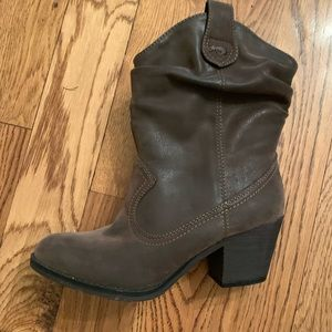 Rocket Dog brown slouch western boot
